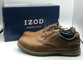 New in Box- IZOD Men's Cal Oxford Brown Lace Up Casual Shoe- Size 10