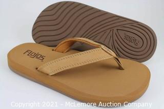 New - Flojos Women's Tan Flip Flops - Size 8