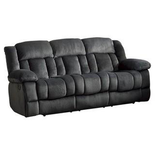"""Lexicon Laurelton 90"""" Traditional Microfiber Double Reclining Sofa in Charcoal - MSRP $929"""
