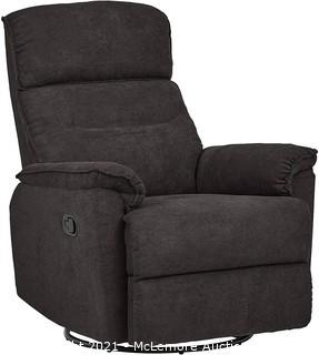 """Ravenna Home Pull Recliner with 360-Degree Swivel Glider.  Living Room Chair.  32""""W.  Dark Grey - New in Box - MSRP $368"""