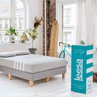 "Leesa Original 10"" Mattress Memory Foam Bed-in-a-Box.  Twin XL Size.  Gray"