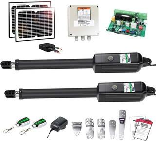 TOPENS AD5S Automatic Gate Opener Kit Medium Duty Solar Dual Gate Operator for Dual Swing Gates Up to 16 Feet or 550 Pounds Gate Motor Solar Panel.  MISSING Control Box.  Extra 5 Conductor Cable for the Second Actuator (25FT) Added