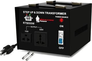 ROCKSTONE POWER 5000 Watt Voltage Converter Transformer - Heavy Duty Step Up/Down AC 110V/120V/220V/240V Power Converter - Circuit Breaker Protection &ndash...G