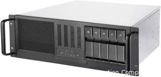 SilverStone Technology RM41-H08 4U Rackmount Server Case with 5 x 3.5 Hot-Swappable Bay and 3 x 5.25 Bays with USB 3.1 Gen 1 RM41-H08-x