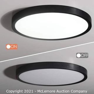 Trim Round LED Flushmount 24 x 24 x 2.8 inches Black Parts Unverified