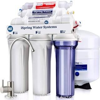 iSpring RCC7AK 6-Stage Under Sink Reverse Osmosis Drinking Water Filter System.  NSF Certified.  75 GPD with Natural pH Alkaline Remineralization Superb Taste High Capacity Filtration