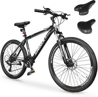 SIRDAR S-900 27 Speed 27.5 inch Mountain Bike Aluminum Alloy and High Carbon Steel with 2 Replaceable Seat.  Full Suspension Disc Brake Outdoor Bikes for Men Women
