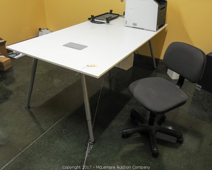McLemore Auction Company Auction Complete Liquidation Of Olive - Large office work table