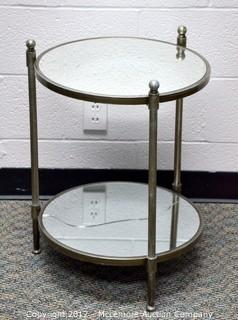 Two Tiered Mirror Table