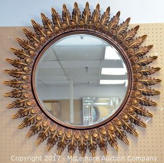 Circular Framed Mirror - Sunburst