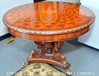 Ornate Inlay Entry Table