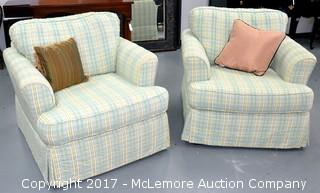 Pair of Overstuffed Chairs