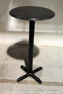 Pub Table with Metal Base and Granite Top