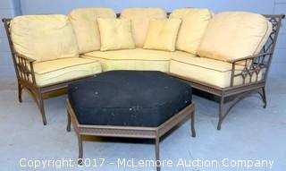 Metal Patio Furniture Set - 6 Pieces