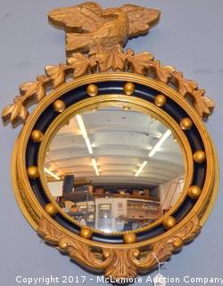 Round Mirror with Eagle