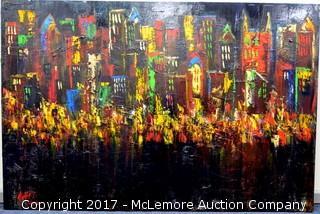 Large Painting of Nashville Skyline