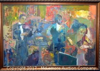 Oil Painting of Orchestra by Murat Kaboulov in 2006 from a Private Collection