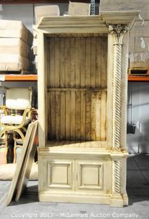 William Switzer 2 Piece Decorative Cabinet with 3 Wooden Shelves