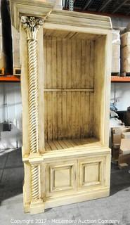 William Switzer Large 2 Piece Cabinet with 3 Wooden Shelves