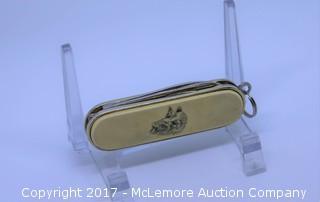 Barlow Bass Scrimshaw Reproduction Pocket Knife