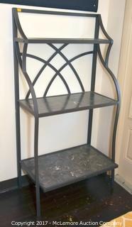 Metal Shelf with Faux Stone