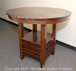 Round High-Top Table