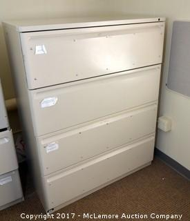 Large Four-Drawer Filing Cabinet