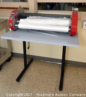 D & K Laminex Minikote Machine and Table