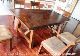 Wood Dining Table with 2 Extensions