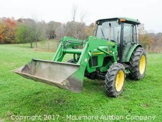 2004 John Deere 5420, 4x4, Diesel, Cabbed Tractor with 541 Loader