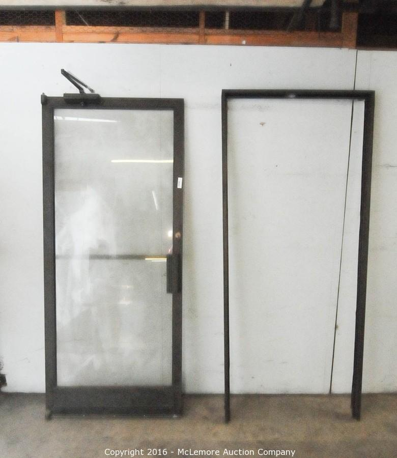 Commercial Steel Frame Glass Door With Metal Door Frame With Key. U2039u203a