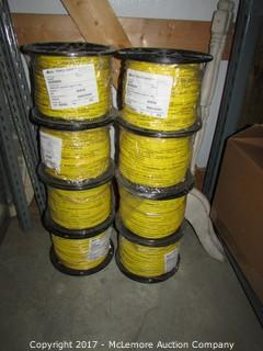 8 Rolls of Copper Wire Neptco and Connector Pieces