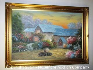 Oil Painting Cottage Scene