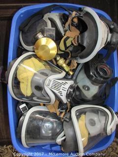 Tub of MSA Mask and Gauges