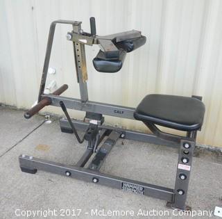 Hammer Strength Weighted Calf Raise Workout Machine