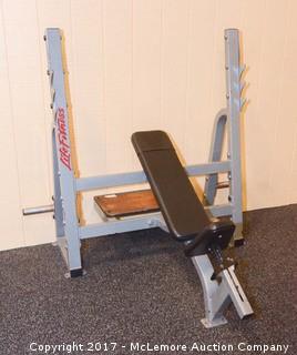 Lifefitness Adjustable Incline Bench with Bar Rack