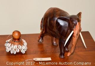 Wooden Decorative Elepahant & Shaker