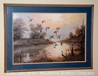 Framed Waterfowl Print by J.W. Thrasher