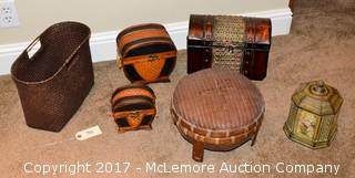Assortment of Baskets & Boxes