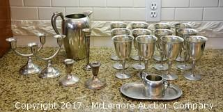 Set of Pewter Fine Table Service