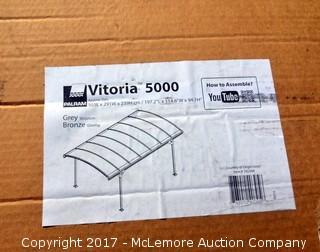 Palram Vitoria 5000 Grey/Bronze Metal Carport Kit