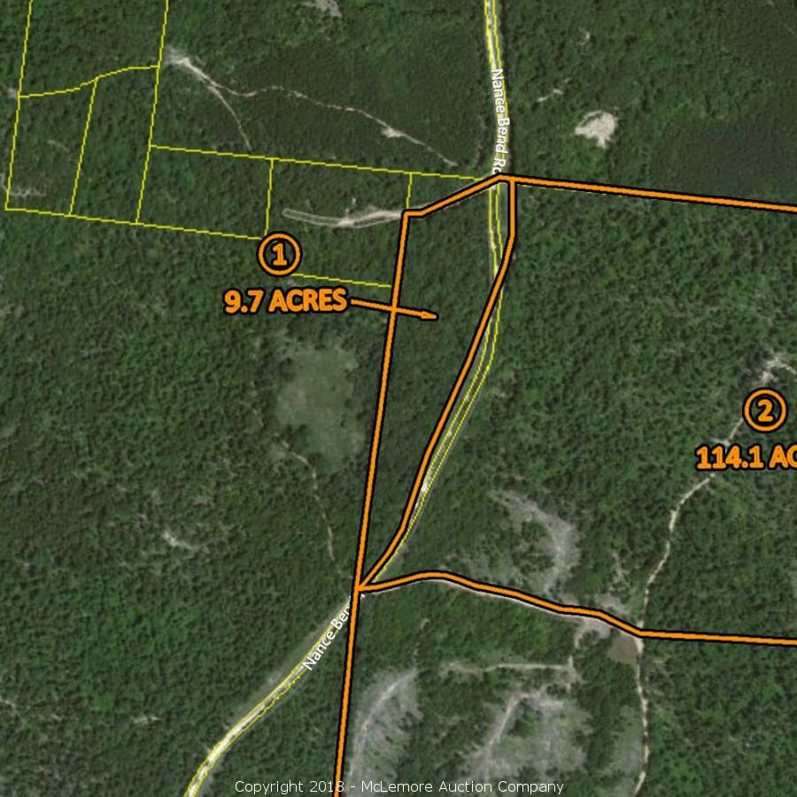 316.9 ± Acres Selling in 5 TractsLocated on Nance Bend Rd in Hardin County, TN