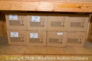 (8) Boxes of Riedel Wine Glasses