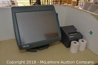 Micros Workstation 5 System and Receipt Printer