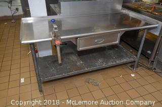 Stainless Steel Prep Table with Can Opener