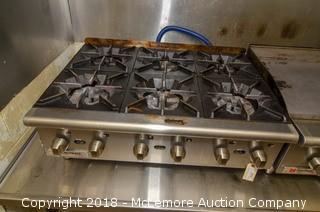 Cecilware Six Burner Gas Range