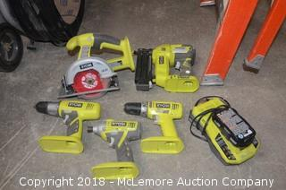 Ryobi Power Tools with Battery and Charger