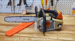 Stihl Brand Chainsaw Model MS 201T - See Video