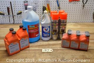 Assortment of Bar Oil & Marking Paint