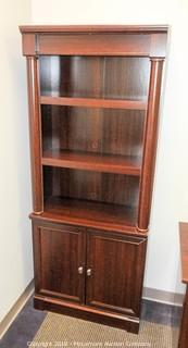 Wooden Executive Shelf with Bottom Cabinet